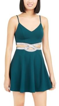 Speechless Juniors' Infinity Cutout Dress