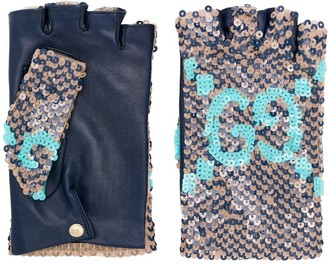 Gucci Sequined Fingerless Gloves