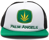 Palm Angels Agrimotor Cap in White.