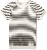Saturdays Nyc - Elliot Striped Loopback Cotton-jersey Sweatshirt