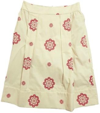 Marni Ecru Cotton Skirt for Women
