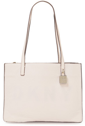DKNY Commuter Medium Logo-debossed Pebbled-leather Tote