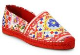 Dolce & Gabbana Carretto Leather Espadrilles