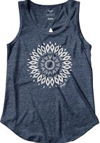 Roxy Womens Mandala Open Back Tank Shirt