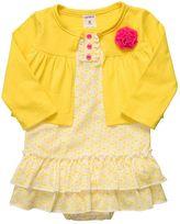 Carter's floral bodysuit dress and cardigan set - baby