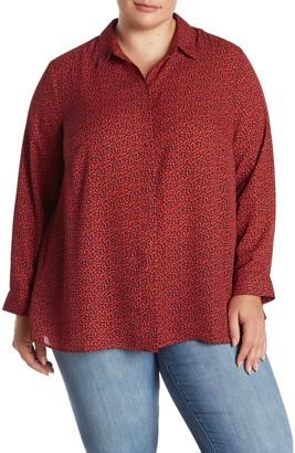 Dr2 By Daniel Rainn Long Sleeve Collared Shirt (Plus Size)