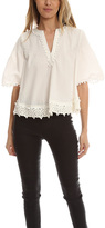 Derek Lam 10 Crosby Pintuck Top With Lace