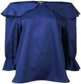 Paule Ka off-shoulder frilled blouse - women - Cotton - 40