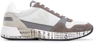Emporio Armani Logo Print Low-Top Sneakers