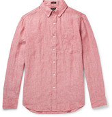 J.Crew Slim-Fit Button-Down Collar Slub Linen Shirt