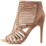 Charlotte Russe Caged Peep Toe Dress Sandals