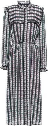 Jason Wu Ruffle-trimmed Checked Organza-jacquard Midi Dress