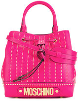Moschino logo letters tote