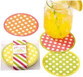 Twos Company Two's Company Cupcakes and Cartwheels Polka Dot Coasters, Set of 12