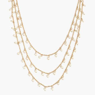 J.Crew Three-strand pearl necklace