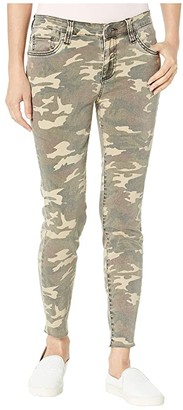 KUT from the Kloth Connie Ankle Skinny with Raw Hem in Olive (Olive) Women's Jeans