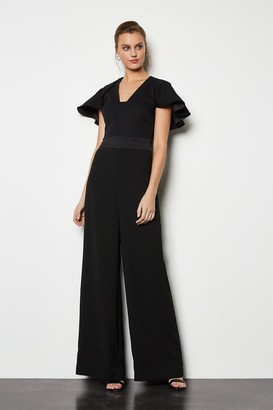 Karen Millen Sculpted Sleeve Jumpsuit