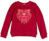 Kenzo Melange Logo Crewneck Sweatshirt, Size 8-12