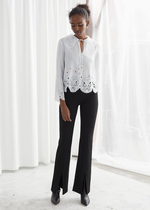 And other stories Front Split Tapered Trousers