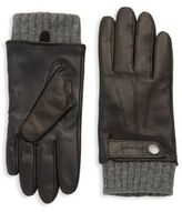Mackage Knitted Leather Gloves