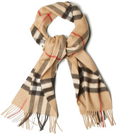 Burberry Shoes & Camel Giant Check Icon Scarf