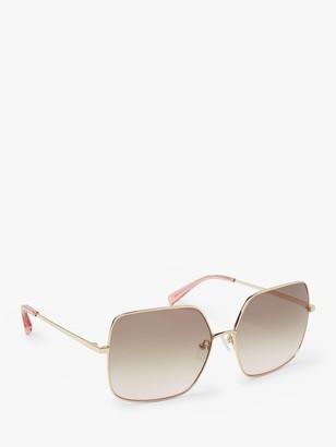 Boden Women's Corsica Square Sunglasses, Gold/Multi Gradient