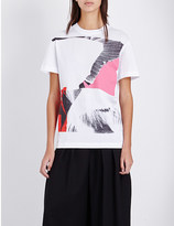 McQ by Alexander McQueen Wings Collage cotton-jersey t-shirt