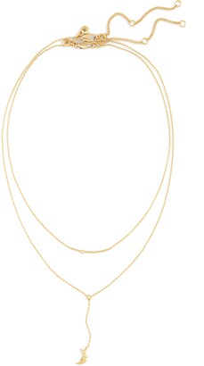 Madewell Hammered Moon Chain Set of 2 Necklaces