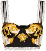 Versace baroque print cropped bra top