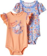 Baby Starters Baby Girl 2-pk. Graphic & Floral Bodysuits