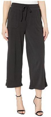 Fresh Produce Jetsetter Capri Pants in Stretchy Modal Rib (Black) Women's Casual Pants