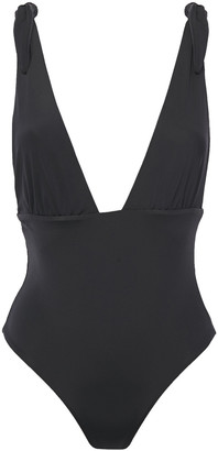 Mara Hoffman Knotted Gathered Swimsuit