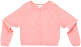 Marie Chantal Girls Pink Pointelle Cardi