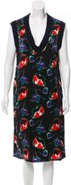 Miu Miu Satin Printed Dress