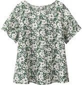 Uniqlo Women Premium Linen Short Sleeve T Blouse