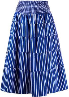 Prada High-Waisted Striped Skirt