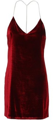 Amiri Open-back Chain-embellished Stretch-velvet Mini Dress