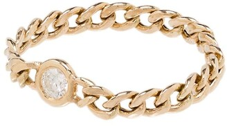 Zoë Chicco 14kt Yellow Gold Small Curb Chain Ring
