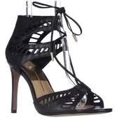 Dolce Vita Henlie Peep-toe Lace-up Pumps, Black Leather.