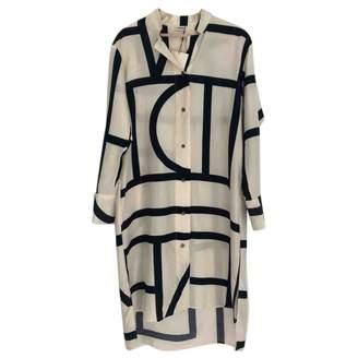 Totême White Silk Dress for Women