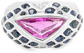 LeVian Corp LIMITED QUANTITIES! Le Vian Grand Sample Sale Ring featuring Bubble Gum Pink Sapphire Blueberry Sapphire set in 18K Vanilla Gold Family