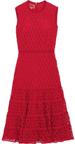 Giambattista Valli Cotton-blend Guipure Lace Midi Dress - Red