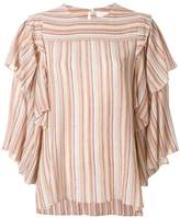 See by Chloe striped gauze blouse