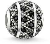 Thomas Sabo Silver & Black CZ Zigzag Karma Bead K0022-051-11