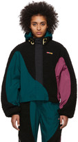 Pyer Moss Reebok By Reebok by Green and Black Collection 3 Hooded Windbreaker