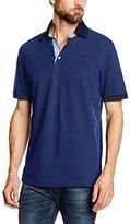 Bugatti Men's 8751 R-55002 Short Sleeve Polo Shirt - blue -