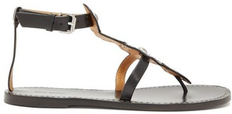 Isabel Marant Studded Leather Sandals - Womens - Black