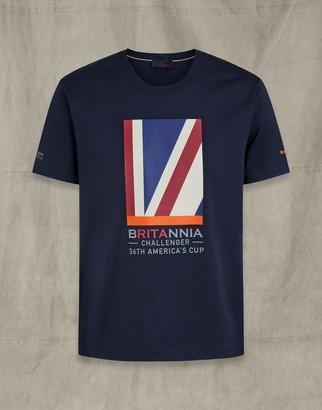 Belstaff Britannia Quarter Flag T-Shirt Blue