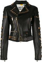 Fausto Puglisi Perfecto embellished jacket - women - Silk/Leather/Polyurethane - 42