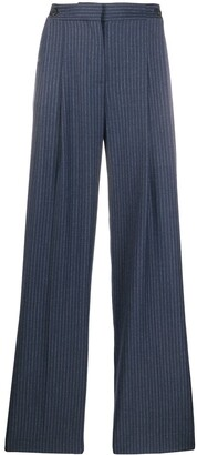 Victoria Victoria Beckham High-Waisted Striped Trousers